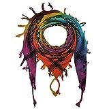 Superfreak Palituch - Sterne Tie dye bunt-batik 01- schwarz - 100x100 cm - Pali Palästinenser Arafat Tuch - 100% Baumwolle