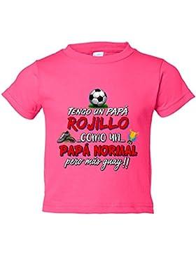 Camiseta niño tengo un papá Rojillo como un papá normal pero más guay