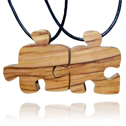 handmade-olive-wood-two-friends-puzzle-piece-friendship-necklaces-matte-finish-fair-trade