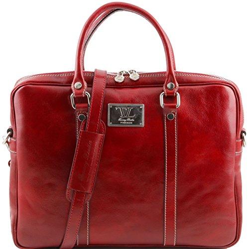 Tuscany Leather Prato - Esclusiva cartella porta notebook in pelle Rosso Porta notebook in pelle Rosso