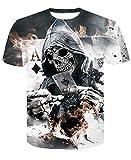 Herren Kurzarm Wolf 3D Print Tier Cool Funny T-Shirt Sommer Top T-Shirt Herrenmode T-Shirt Male4XL (Farbe : #21, größe : S)