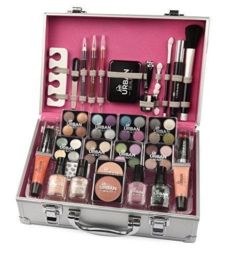 Maletín de maquillaje Urban Beauty, 60 productos. Ideal para viajar,