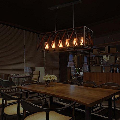 Kronleuchter- Nordic Creative Retro Industrial Wind 6 Kopf  4-Kopf Eisen Kronleuchter American Restaurant Bar Wohnzimmer Kronleuchter (Stil optional) --Innen Kronleuchter ( größe : 78cn ) -