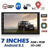 Autoradio 7 inch Bluetooth Main Libre GPS Tuankayuk BT 4.0 FM Stéréo MP5 Player...