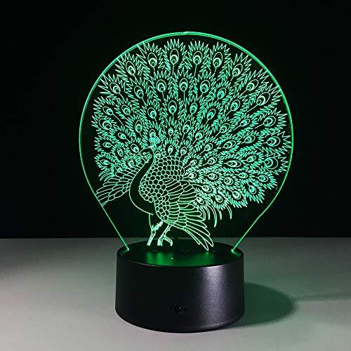 Pfaulampe Hauptdekoration Atmosphäre Lava Lampe Farbwechsel Illusion Nachtlicht Pfau herrlichen Schwanz Kinder Geschenk