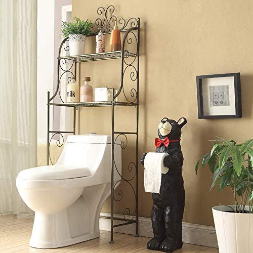Jazi Regale Regale aus 2-stufigem Metall über dem Toilettenregal, Raumspar-Organizer für Badezimmer, Gestelle -