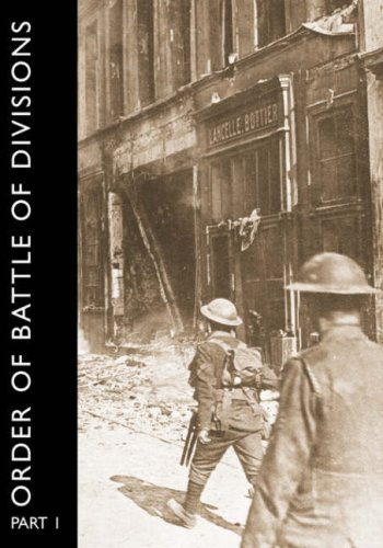 ORDER OF BATTLE OF DIVISIONS, Part 1 Cover Image