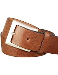 Vollrind-Ledergürtel mit Altsilberschließe, 4cm Breite