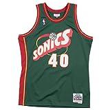 Mitchell & Ness Shawn Kemp #40 Seattle SuperSonics 1995-96 Swingman NBA Trikot Grün, M
