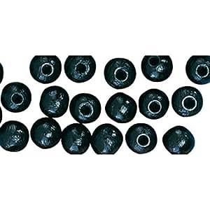 Perle en bois Noir Ronde Ø 8 mm 82 pièces - Rayher