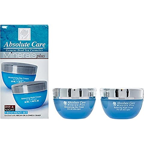 Absolute Care Minerals Plus, Moisturizing Day Cream + Balancing Night