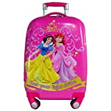 #6: Disney Princess Group 3 56 cm Pink ABS Hard Sided Kids Luggage - Trolley/Travel/Tourist Bags