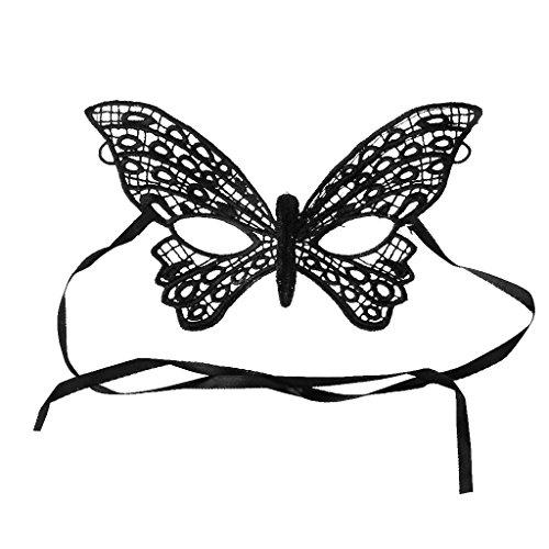 Gazechimp Schwarz Schmetterling Venetianische Maskerade Damen Augenmaske Maske