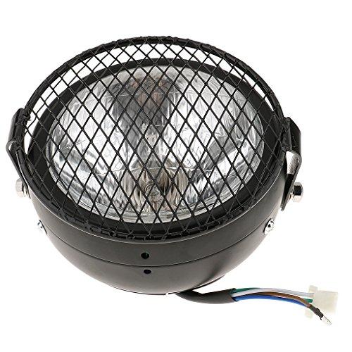 """Preisvergleich Produktbild MagiDeal 6.5 """"Retro-Motorrad LED-Scheinwerfer Grill Seite Abblendlicht Mit Halter Abdeckung Montieren"""