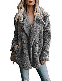 f142770d8c66 Yidarton Femme Manteau Manche Longue Streetwear Jacket Cardigan Mode Hiver  Chaud Peluche Blouson