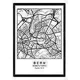 Nacnic Drucken Stadtplan Bern skandinavischen Stil in