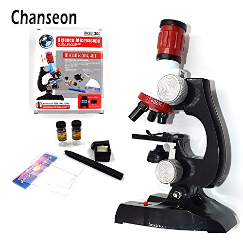 Traders China, 100X 400X 1200X : Microscope Kit Lab LED 100X-400X-1200X Home School Science Educational Toy Gift Refined Biological Microscope For Kids Child