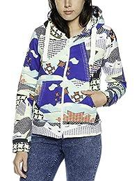 Damen Hoodie Kapuze Kapuzenpullover - Kapuzen Pullover - Sweatjacke Kapuzenjacke - Pullover - Collegejacke - Dines -