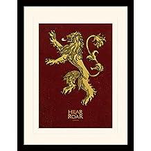 Juego De Tronos - Lannister Póster De Colección Enmarcado (40 x 30cm)