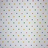Aus Stoff Weiß mit Punkten, mehrfarbig (Primary Spot (METERWARE)