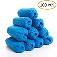 YIQI Paquete de 100 Cubiertas para Zapatos Antideslizante, Duradero, reciclable, oficinas, protección de alfombras para Pisos Interiores, Talla única para Todos (Rosa y Azul)