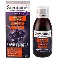 Sambucol Immuno Forte Extrait de Baies de Sureau Noir + Vitamine C + Zinc 120 ml