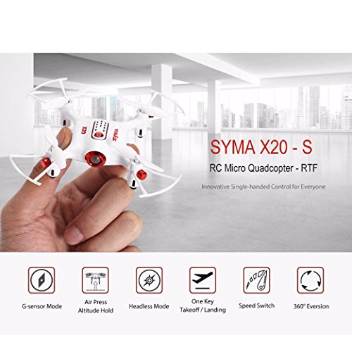 WYXlink Syma x20-s one-hand remote control four-axis aircraft automatically hover gravit (a) Fliegen Making Kit