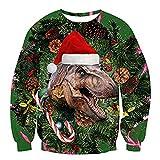 TEFIIR Paar Weihnachten 3D Digitaldruck Pullover-TEFIR-Rundhals Sweatshirt Langarmshirt Lose Abnutzung Sweater Tops Hoodies Geeignet für Freizeit, Urlaub und Dating