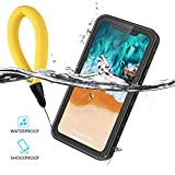 iPhone 9 Plus 6.5 inch Case Waterproof Cover Outdoor Ultra-slim Rugged Case 360° Protection Underwater IP68 Certification ShockProof DirtyProof Case Sleeve Wireless Charging Support+Floating Strap