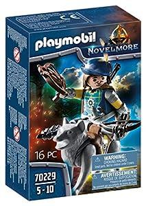 PLAYMOBIL-Knights Armbrustschütze mit Wolf 70229 Novelmore-Protector de Ballesta con Lobo (a Partir de 8 años), Color carbón, Talla única
