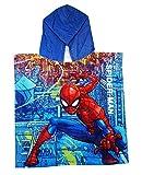 Poncho de Bain 100% Coton Spider-Man in The City pour Enfants, Taille Unique, Style...