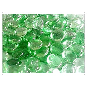 Glass Pebbles Sample Green Opaque 20mm SOOTHING IDEAS 100g app 23
