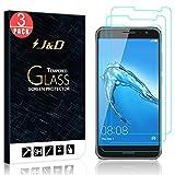 J und D Kompatibel für 3-Pack Huawei Nova Plus Bildschirm Schutzglas, [Vorgespanntes Glas] [Nicht Ganze Deckung] Kristallklare Sicht in HD-Qualität für Huawei Nova Plus