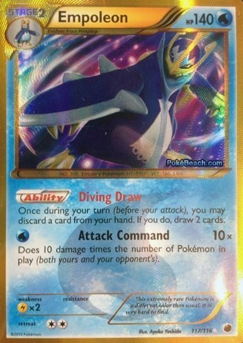 Empoleon Plasma Freeze 117/116 Pokemon Secret Ultra Rare Card by Nintendo