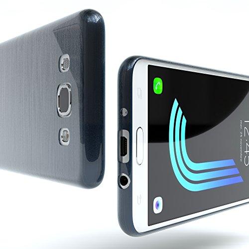 Samsung Galaxy J5 (2016) Hülle - EAZY CASE Ultra Slim Cover Handyhülle - dünne Schutzhülle aus Silikon in Transparent Brushed Dunkelblau