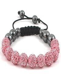 11-Ball Pink Shamballa Bracelet with no strings