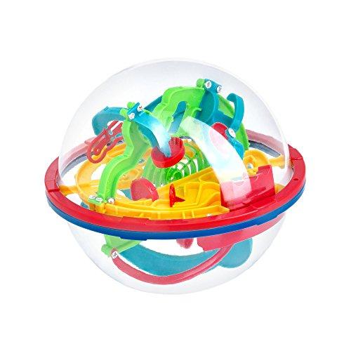 (3D Labyrinth Ball Puzzle | Labyrinth Hobby Ball | Spiel Magic Puzzle Bildungsintellekt | Didaktische Puzzlekugel | Magischer Intellekt Ball | Puzzle 3D Puzzle)