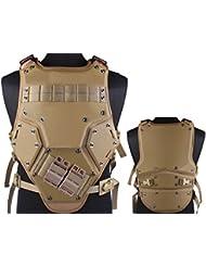 Tactical TF3Molle combate chaleco, con bolsillo para cargador) para Airsoft y Paintball militar marrón