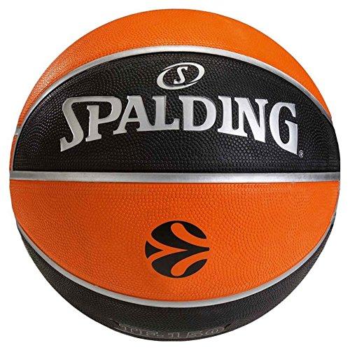 Spalding EUROLEAGUE TF150 Outdoor SZ.5 (73-984Z) balón de Baloncesto, Unisex, Naranja/Negro, 5