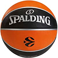 Spalding EUROLEAGUE TF150 OUTDOOR SZ.5 (73-984Z) balón de baloncesto outdoor, naranja/negro, 5