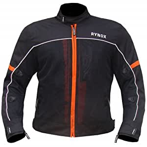 Rynox Mesh/Polyester Air GT Riding Jacket (Orange, Small)
