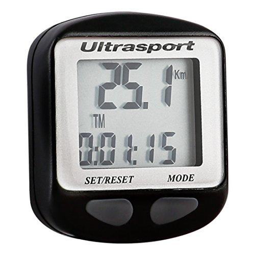 Ultrasport Ciclocomputador con Cable Resistente Al Agua y Fácil de Montar, El...