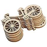 MoGist Lot de 10 rondelles en Bois créatives pour vélo en Forme de rondelles en...
