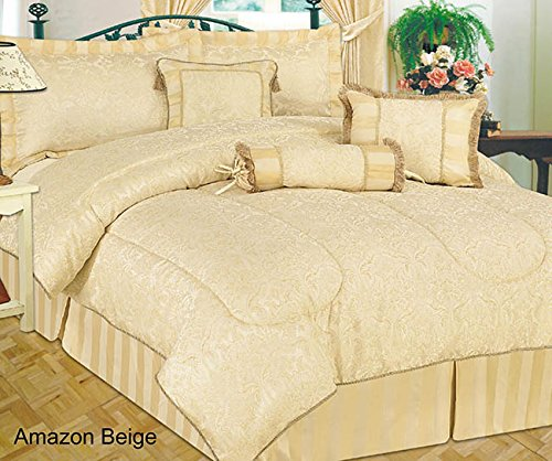 amazon-quilted-7-pieces-super-king-beige-bedspread-modern-jacquard-luxury-comforter-complete-bedding