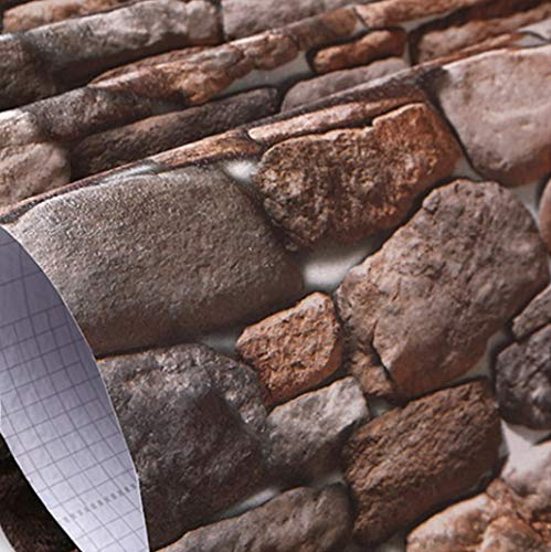 fenjinsheng Fliesenaufkleber 60X300Cm Vintage Backstein Wandbild Tapete 3D Vinyl Selbstklebende Folie wasserdichte Stein Wandaufkleber Küche Wohnzimmer Wandkunst Dekor Vintage Küche Dekor