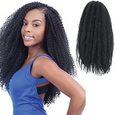 """GANTA @ Natürliche schwarze 17 """"kanekalon afro kinky Zöpfe Twist Havana lockige synthetische Haare Zöpfe 100g , 1 pack"""
