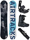 Airtracks SNOWBOARD SET - BOARD JUNGLE WIDE 145 - SOFTBINDUNG MASTER - SOFTBOOTS MASTER QL 41 - SB BAG