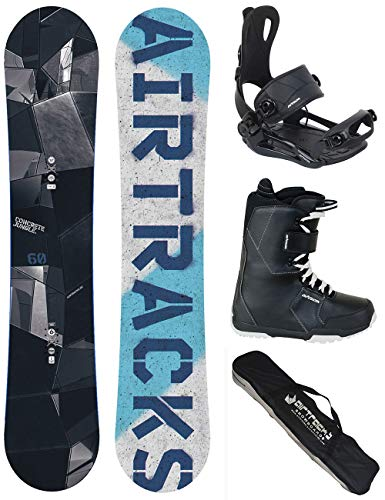 Airtracks SNOWBOARD SET - BOARD JUNGLE WIDE 145 - SOFTBINDUNG MASTER - SOFTBOOTS SAVAGE BLACK 40 - SB BAG