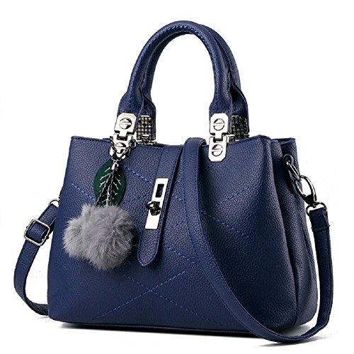 CELO sacchetti delle signore informale europea e americana borsa di modo Palla di pelo semplice vendita borsa a tracolla diagonale di alta qualità , red blue