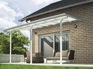 Chalet-Jardin 12PERGOLA 4200 Toit-terrasse Aurore Aluminium Blanc 4 x 3 m